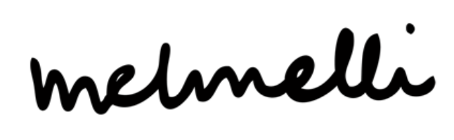 Melmelli logo in black and white
